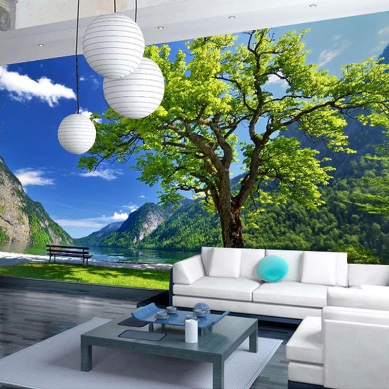 Naturaleza mural compra lotes baratos de naturaleza for Papel tapiz estilo mural
