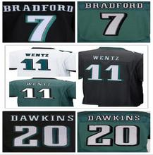 Best quality jersey,Men's11 Carson Wentz 7 Sam Bradford 20 Brian Dawkins 43 Darren Sproles elite jerseys,White,Green,Black(China (Mainland))