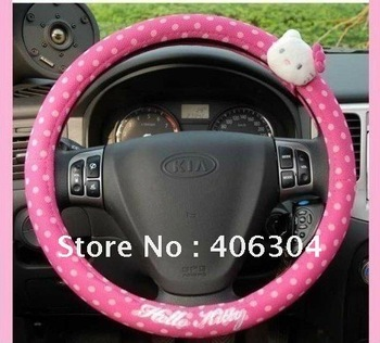 Free shipping ,hello kitty steering wheel cover, pink, car interior decoration,hello kitty car accessories
