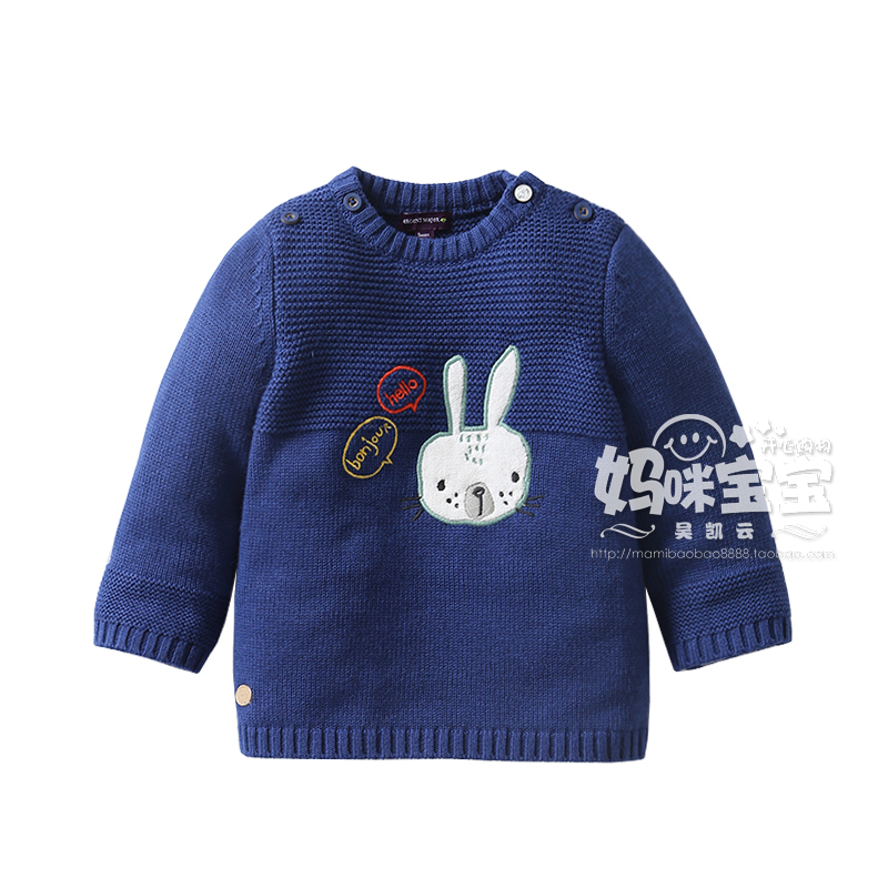 Baby girl sweater 2017 spring autumn new arrival baby round neck sweater kids 100% cotton sweater long-sleeve pullover tops