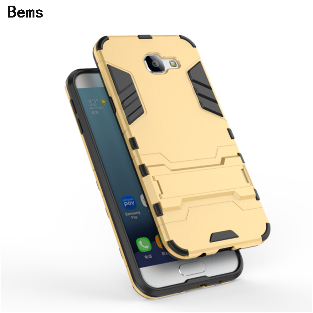 For Samsung Galaxy A5 A7 A8 2016 PC+Silicone 3D Heavy Duty Military Anti Shock Kickstand Armor Case For Samsung A710 A510 A810(China (Mainland))