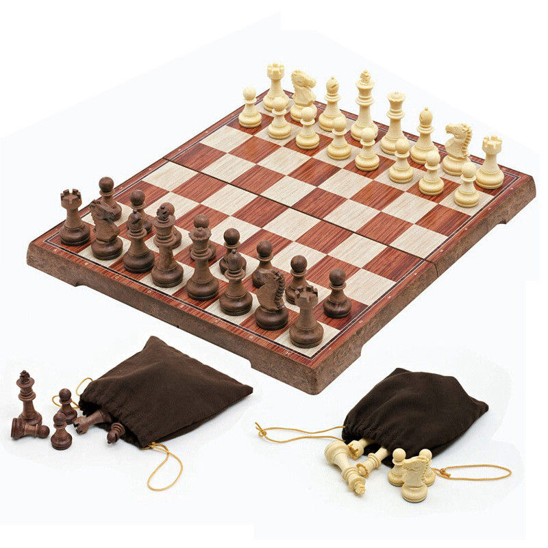 New Arrival Wooden WPC Chess Folded Board International magnetic Chess Set Exquisite Chess Puzzle Games Board Game k8356(China (Mainland))