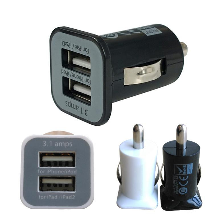 Micro Auto Universal 3.1A USB Charger For iPhone iPAd iPod Car-Charger Adapter - Cigar Socket For Ot