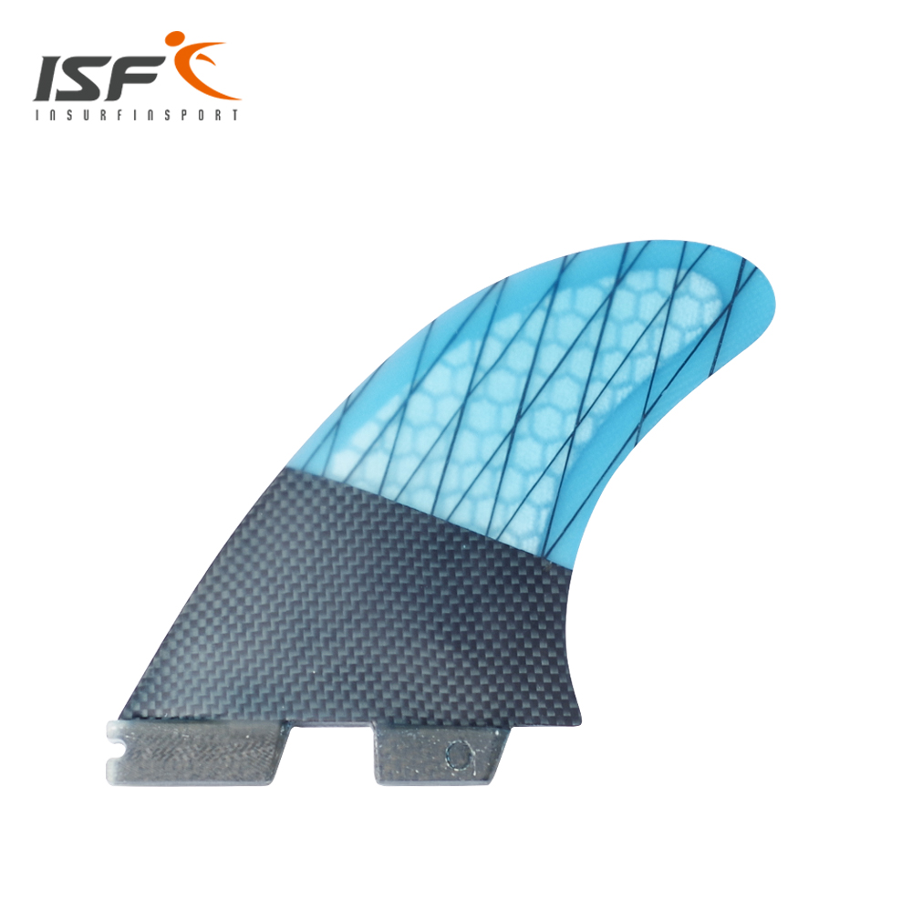 NEW Carbonfiber Blue Strip FCS II surf Fins Thruster FCS Fin Set (3) Compatible M3 Surf Fin FCS BASE(China (Mainland))