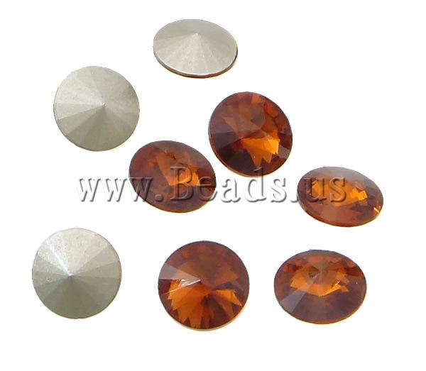 Free shipping!!!Crystal Cabochons,New Year Gift, Flat Round, real silver plated, rivoli back, Smoked Topaz, 6x6x6mm<br><br>Aliexpress