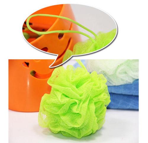 10PCS Bath Ball Lily Scrub Shower Net Wash Body Exfoliate Puff Sponge Mesh 7 Colors(China (Mainland))