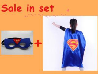 Superhero capes mask, party favors, 15 style satin capes, , spiderman, superman, batman, Captain America - SUZHOU GREEN TEXTILE CO,LTD store