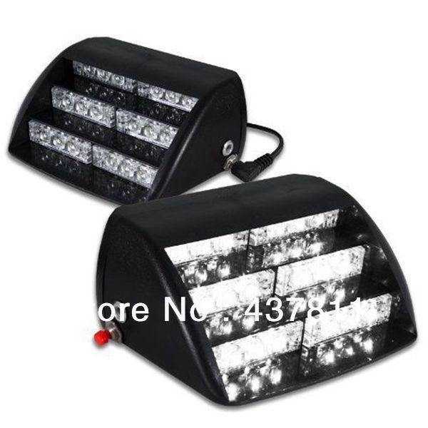 18 led emergency vehicle strobe lights windshields. Black Bedroom Furniture Sets. Home Design Ideas