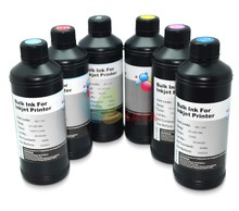 6x250ml B/C/M/Y/White + Cleaning Solution for Soft Material UV LED Ink/UV Printing Ink For epson UV flated Printer dx3 dx5 dx7