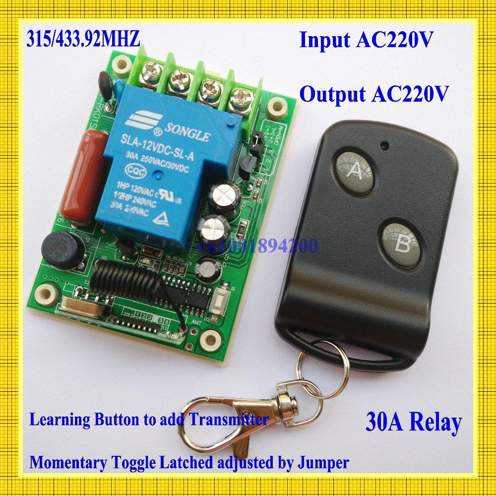 Wireless Remote Control lighting Switch System 220V 30A 3000W Receiver Transmitter 315/433 light/Lamp LED water pump applicance - Shenzhen YK Electronics Co.,Ltd store