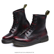 Free Shipping New 2016 Dr Ma Fashion Men's Winter Boots Snow boots Genuine Leather Martin boots Man Brand Uinsex boots(China (Mainland))