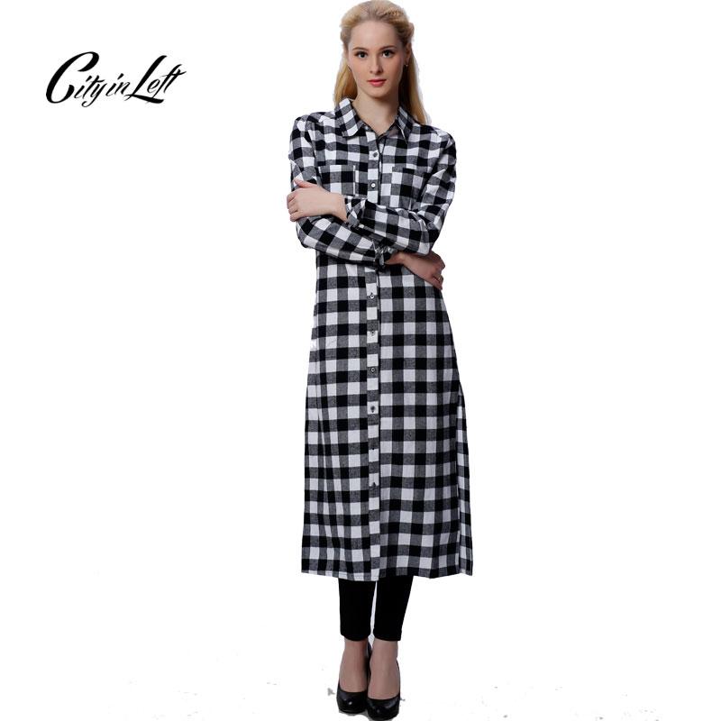 Women New Fashion Maxi Long Shirt Long Sleeve Boyfriend ...