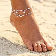 2019 nowy Boho Turtle wisiorek obrączki dla kobiet Shell Anklet bransoletki na nogę czeski Foot Ocean biżuteria Drop Shipping(China)
