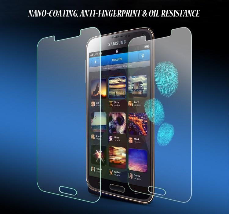 Закаленное стекло для Samsung Galaxy S5 i9600 бронированная защитная ультратонкий пленка для S5 передняя протектор экрана 01