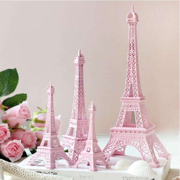 As Creation Pink Paris Pattern Eiffel Tower Childrens: 25cm Height Pink Lovely Paris Eiffel Tower Souvenirs Model