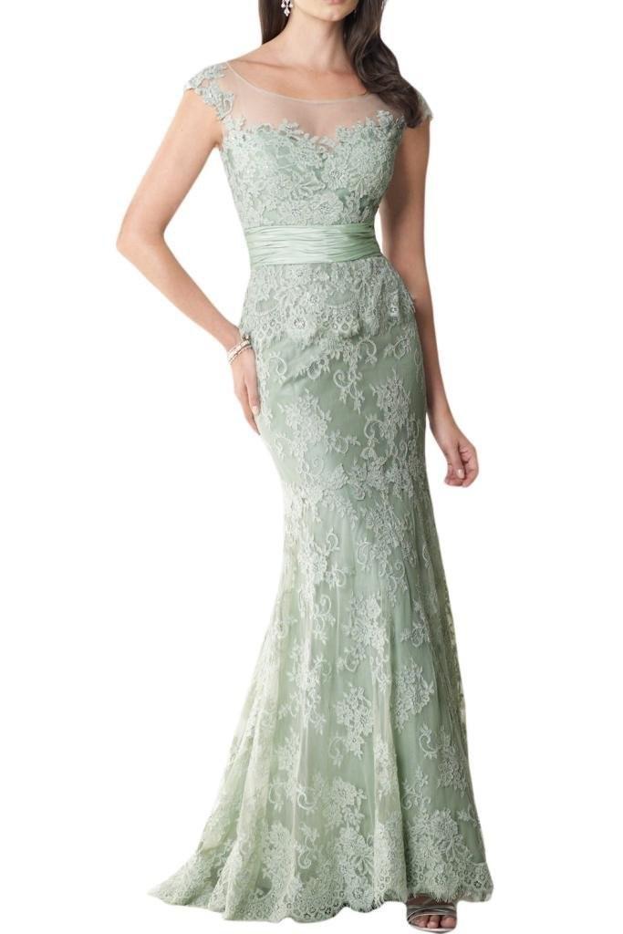 Elegant Mermaid Lace Mother Of The Bride Dress Sheer