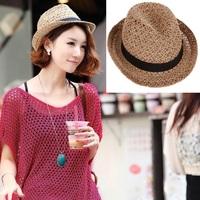 summer sombrero sun hat for women panama tea party hats,black girdle beach mesh straw hat,chapeau feminino,casquette femme