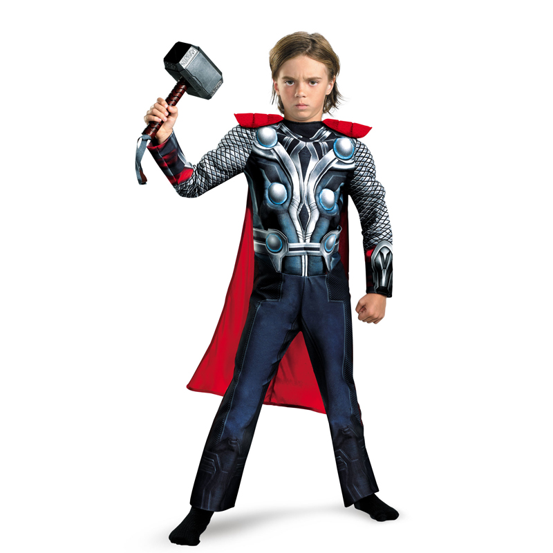 Гаджет  Rushed The Avengers Thor Classic Muscle Child boys Halloween carnival movie Costumes Kids fantasia fancy dress Hammer for free None Одежда и аксессуары