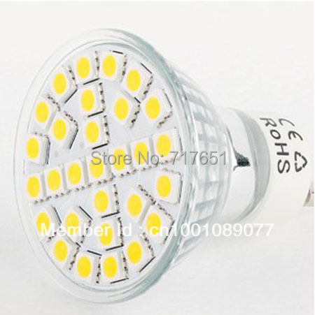 5W GU10 LED 5050 29 SMD Pure/ Warm White LED High Power Spot Light 10pcs/lot