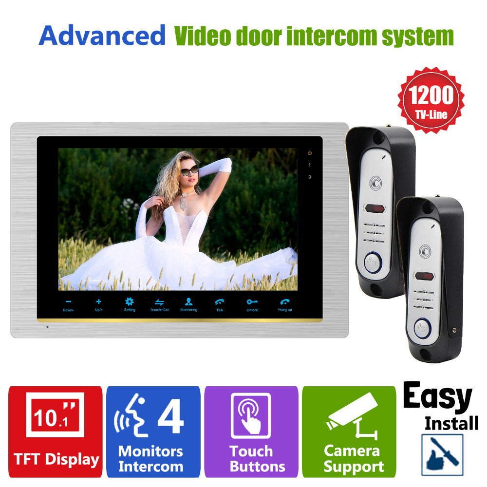 YSECU Video Door Phone system  home  Intercom high resolution  front foor monitor System  Inter-conversation Doorbell 1200TVL<br><br>Aliexpress