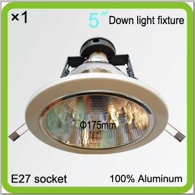 Manufacturer led down light fixture dia175mm led ceiling lights frame E27 screw light fittings bracket reflector light holders(China (Mainland))