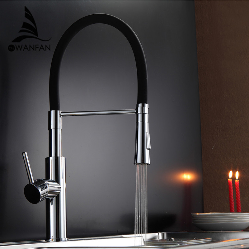 aliexpress com buy black and chrome finish kitchen sink fashion brass chrome and black finish cold and hot led