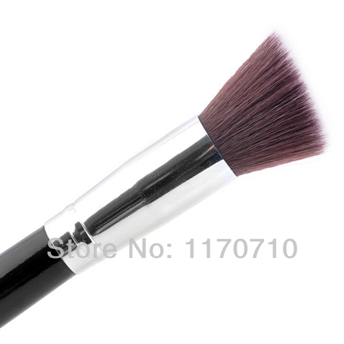 FREE SHIPPING! Top Level Goat Hair Makeup Brushes Flat Top Black Foundation Brush One Piece !(China (Mainland))
