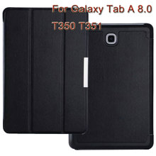 3 in 1, PU Leather Magnet Stand Cover Case For Samsung Galaxy Tab A OR 5 8.0 T350 T351 T355 SM-T350 + Screen Protector + Stylus
