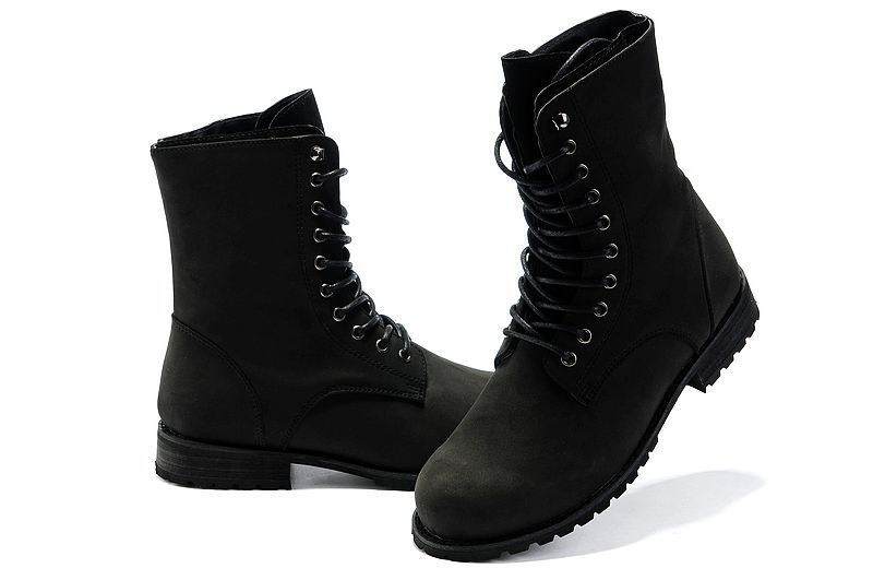 Mens Black Combat Boots - Cr Boot