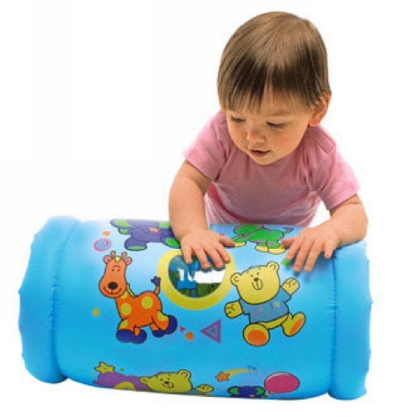 Toys For Learning To Crawl : Baby inflatable crawl ball music toys roller with pattern