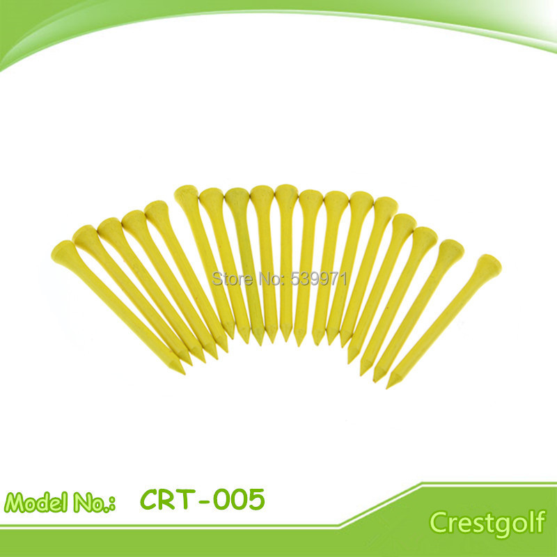 High Quality 70mm Promotion Yellow Wood Golf Tee With Free Shipping Golf Ball Nails(China (Mainland))