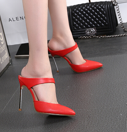10CM Heels Brand Shoes Woman High Heels Sandals Red Slipper Summer Slipper Sandals Shoes High Heels Womens Sandals Sexy S-005(China (Mainland))