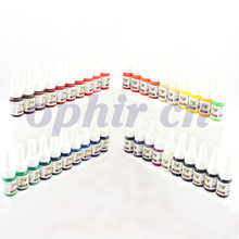 OPHIR 40x 5ml/Bottle Pro Tattoo Inks 40 Colors Tatto Pigment Supply Kit Set Tatoo Supply #TA024(China (Mainland))