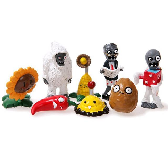 Супер небьющиеся растения против зомби игрушка 8 шт./компл. фигурку / игрушки для девочек / рождественский подарок интерьера автомобиля украшения