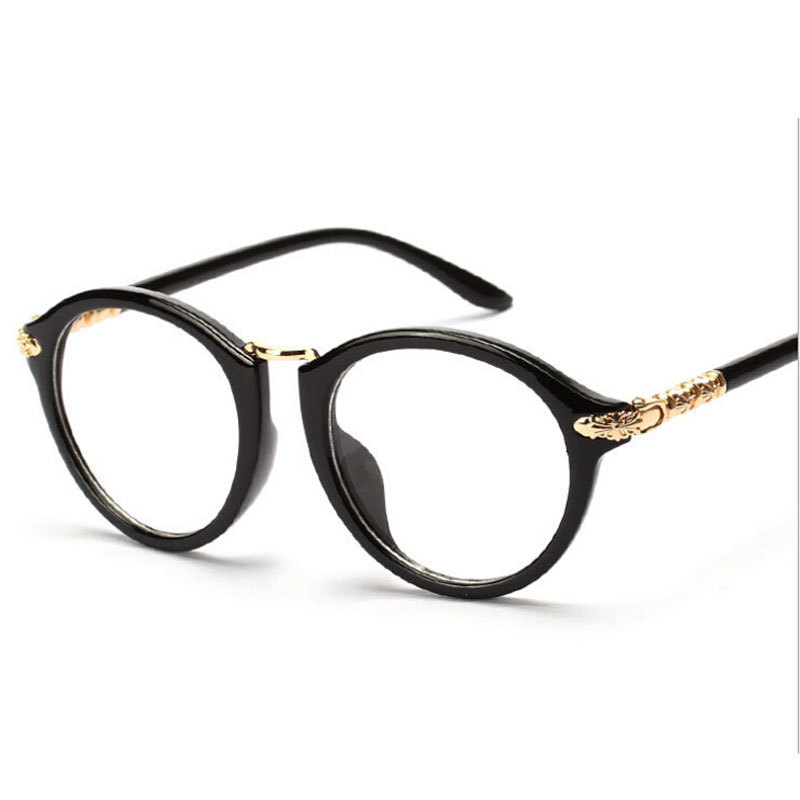 Mens Oversized Eyeglasses Frame For Big Face, Gold Metal ...