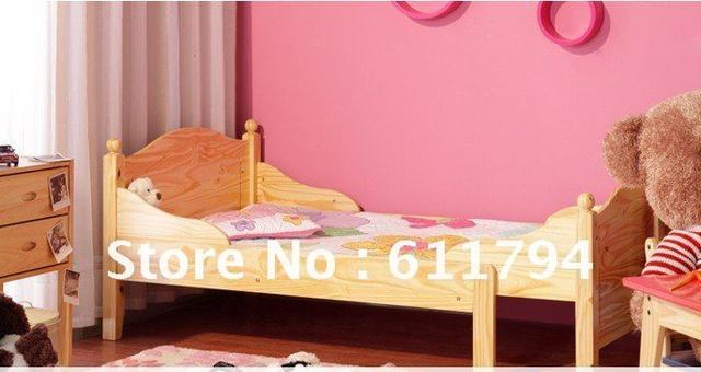 Furniture/Bedroom/ Children's Furniture/Children's retractable Single bed Solid Pine Wood