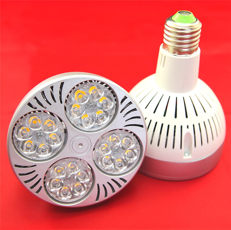 PAR30 led light bulb E27 spotlight 35W lamp 3200LM 15/25/45/80 degree E27 bulb white OSRAM chip cool active cooling wholesales(China (Mainland))