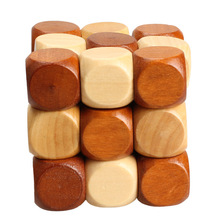 Dragon Tail Style Rubber Wood Adult Children Intelligence Puzzle Lock Toy K5BO(China (Mainland))