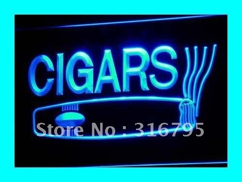 i073-b OPEN Cigars Cigarette Bar Lure LED Neon Light Sign On/Off Switch 7 Colors