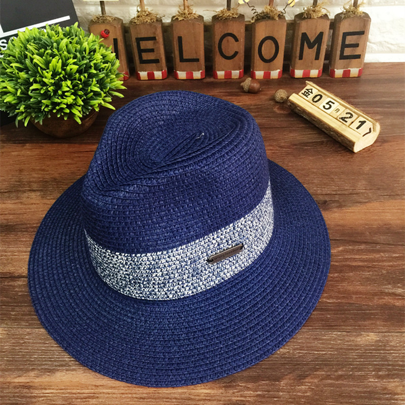 Wholesale new national wind Sir Conical hat for men and women outdoor straw beach hat clothing accessories manufacturers selling(China (Mainland))