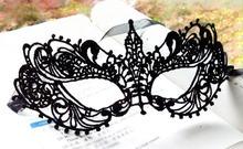 Schöne Dame schwarz Spitze Floral Auge Maske venezianischen Masquerade Fantasie-Partei-Kleid(China (Mainland))