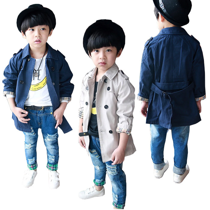 1 Boys kids Fashion Double Breasted Belted Long Trench Coat Jacket Parka 1-8Y - Online Store 333080 store