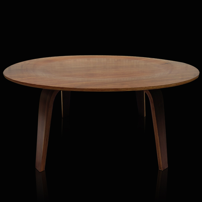 Coffee Table Round Wooden Table Minimalist Designer IKEA Wood Low