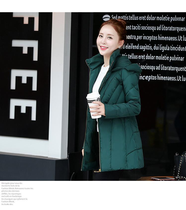 Скидки на Новый 2016 Зимняя Куртка Женщин Тонкий Моды С Капюшоном Хлопок Пальто Корейский Плюс Размер Повседневная Винтаж Длинные Черные Пуховики Куртка