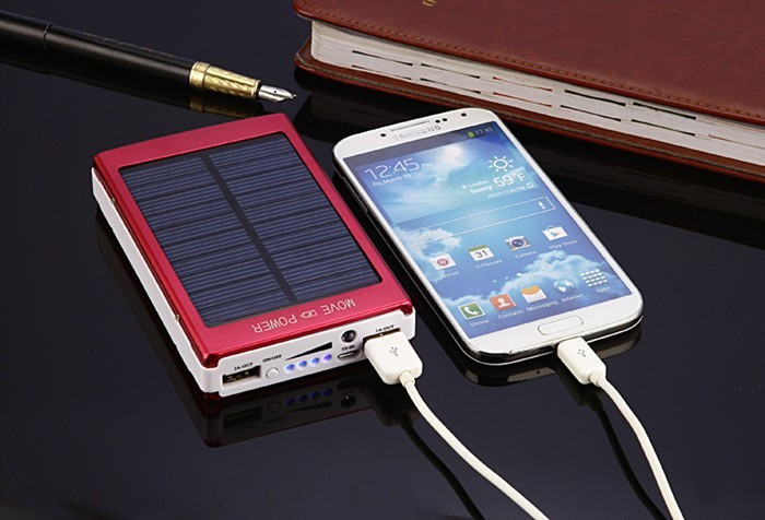 Real Capacity Universal 8000mAh Dual USB Solar Power Bank For iphone Mobile Charger Battery with LED Light 8000 mah Powerbank
