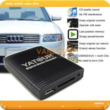 YATOUR Digital Music Changer USB SD AUX MP3 Adaptor for Audi Chorus 2 Concert 1/2 Symphony 1/2(China (Mainland))