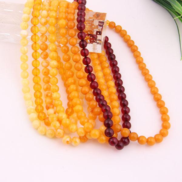 2015 Мода Нового Прибытия Имитация Янтаря Индийский Четки Ожерелье Различных цветов Мода Подвески Ювелирные Изделия Из Янтаря Ожерелье
