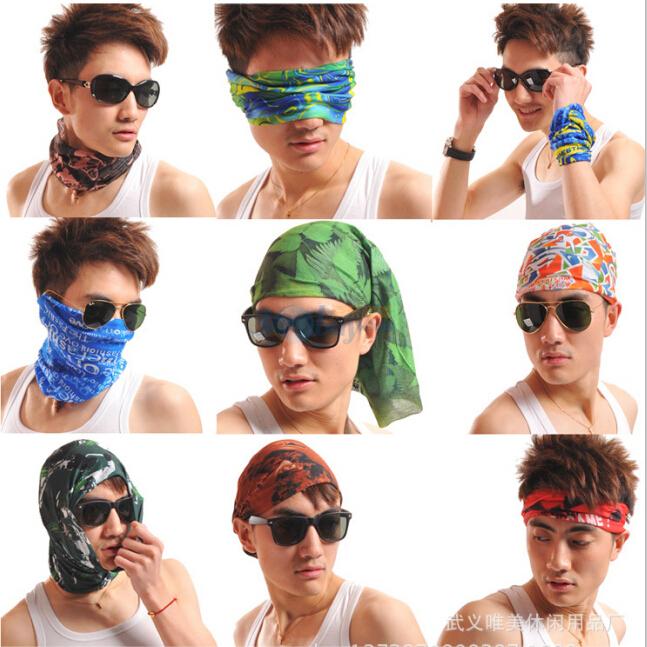 summer Variety women men magic headband head scarf women female neck scarves set neckerchief cycling mask skull bandana bike men(China (Mainland))
