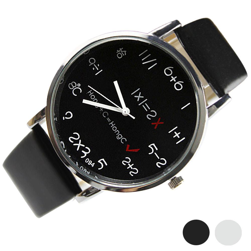 Wavors Casual Women Men Faux Leather Watch Stylish Numbers Design Unisex Analog Quartz - Store store