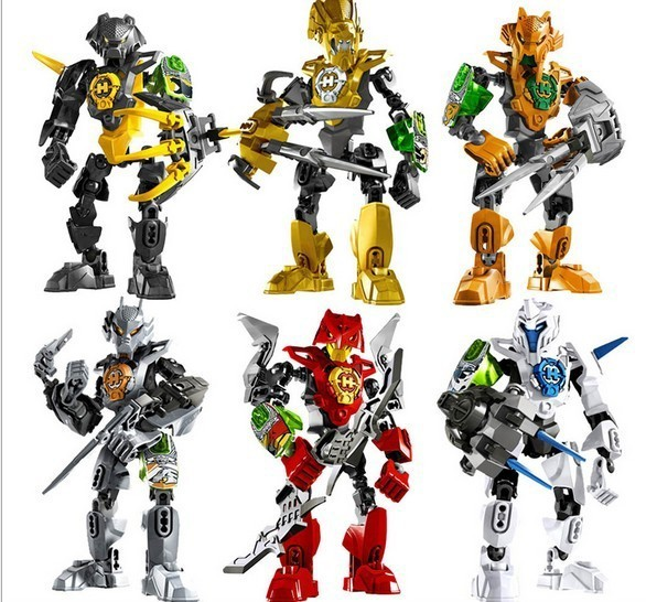 6pcs/lot Decool 96B Hero Factory 3.0 Star War Solider STRINGER/STORMER/ROCKA/NEX/AULK/FRNO Mini Figure block toys with lego(China (Mainland))